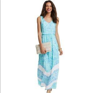 Vineyard Vines, Palm Leaf Scarf Print Maxi Dress,4